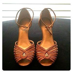 Etienne Aigner tan shoes